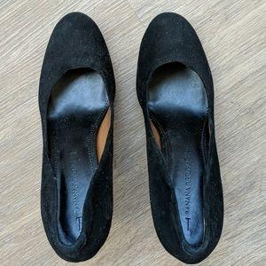 Banana Republic Black Suede Shoes